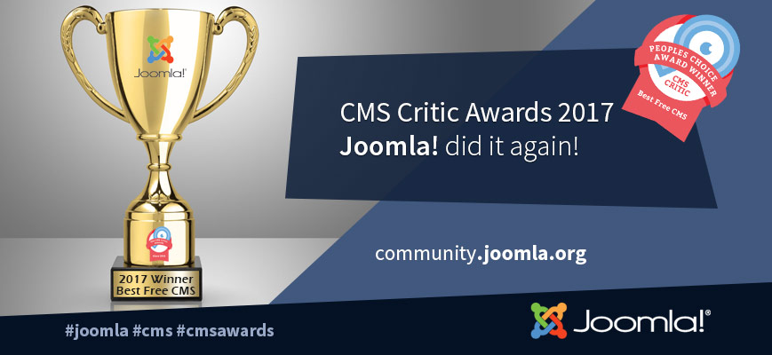joomla cms critic awards 2017