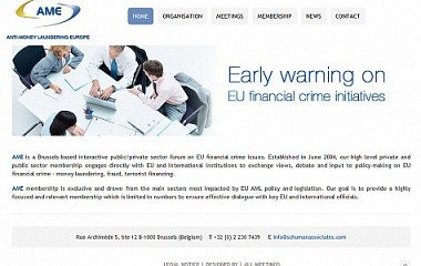AME | Anti-money laundering europe | Diseño web para Bruselas