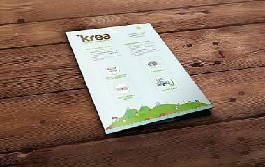 Krea Energia | diseño de díptico publicitario (Gipuzkoa)