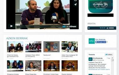 ERLO TELEBISTA | webgune garapenaren birmoldaketa (RESPONSIVE)