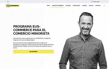 Eus-COMMERCE | creación de plataforma web con área privada (Álava, Bizkaia y Gipuzkoa)
