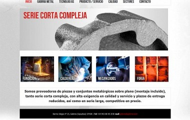 Gabiria Metal | Diseño logotipo | Diseño web Donostia | Diseño de imagen corporativa