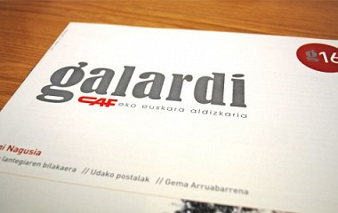 Galardi, maquetación y diseño de la revista de euskera de la CAF. Beasain (Gipuzkoa)