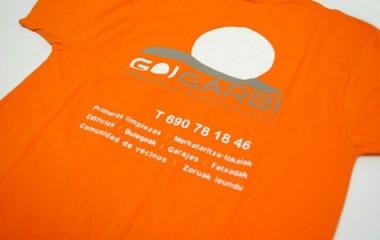 Camisetas promocionales personalizadas Goigarbi