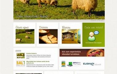 Idiazabal Turismo | diseño web idiazabal | diseño logotipo para Idiazabal (Gipuzkoa)