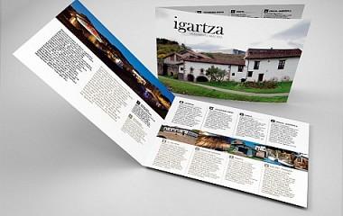 Igartza Conjunto Monumental | Diseño de díptico publicitario | Beasain (Gipuzkoa)