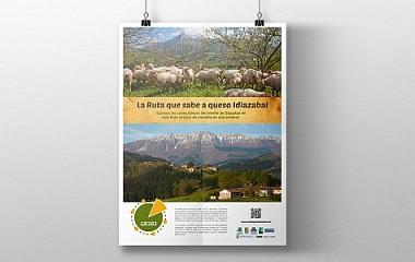 La ruta del queso Idiazabal | Diseño de anuncio publicitario Idiazabal (Gipuzkoa)