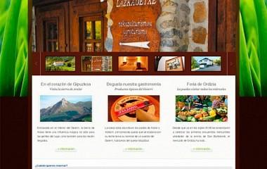 Lazkao-Etxe, diseño de pagina web para casa rural y agroturismo en Zaldibia (Gipuzkoa)