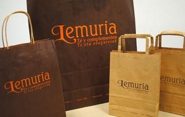 Bolsa kraft personalizada Lemuria::te y complementos::